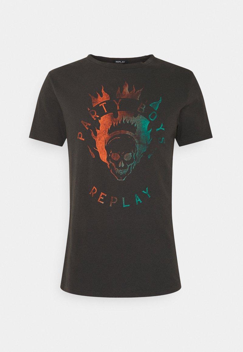 Replay - Print T-shirt - blackboard