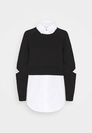 DOUBLE LAYER FABRIC MIX  - Sweatshirt - black