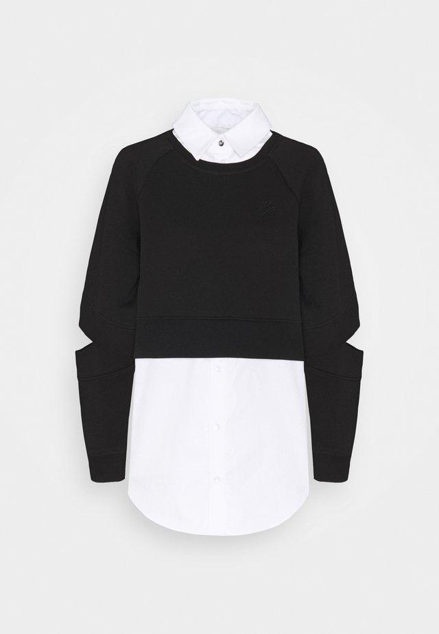 DOUBLE LAYER FABRIC MIX  - Sweatshirt - black