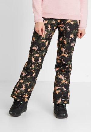 GLAMOUR PANTS - Snow pants - black/yellow