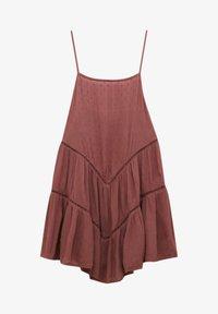 PULL&BEAR - PLUMETIS MIT CARRÉ-AUSSCHNITT - Day dress - red - 5