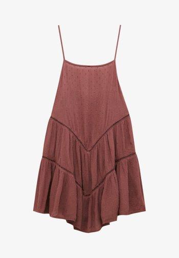 PLUMETIS MIT CARRÉ-AUSSCHNITT - Day dress - red
