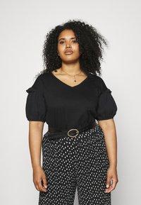 Even&Odd Curvy - Print T-shirt - black - 0