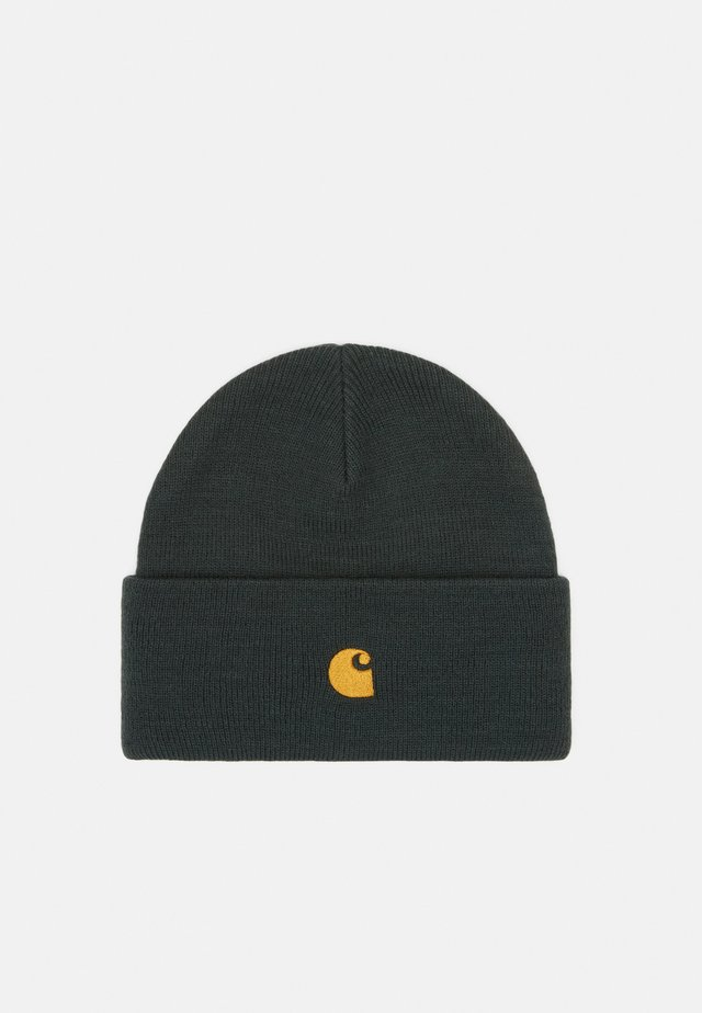 CHASE BEANIE - Berretto - dark teal/gold