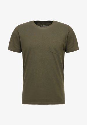 JJEPOCKET TEE SS O-NECK - T-shirt - bas - olive night
