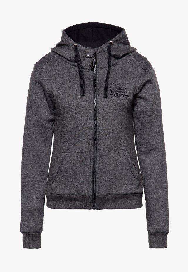 RACING SKULL - Zip-up hoodie - grau