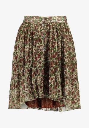 GOMA - A-line skirt - vert/rouge