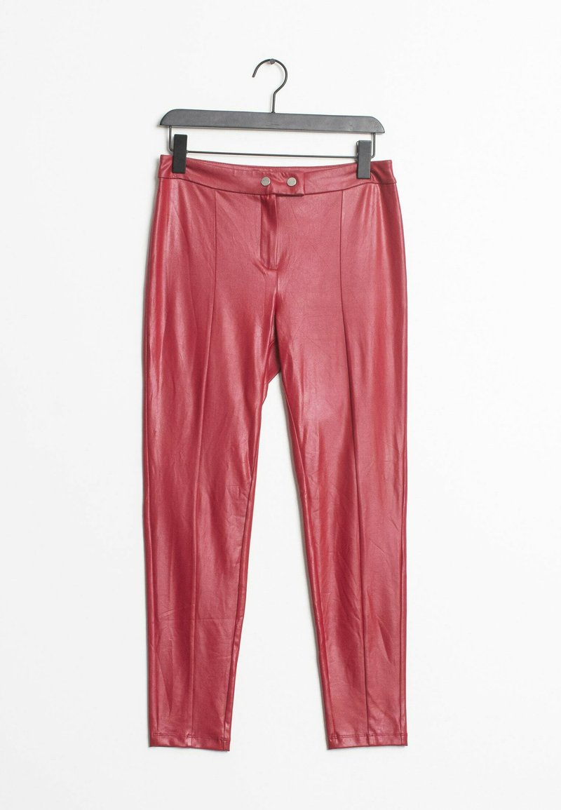 Mango - Leather trousers - red