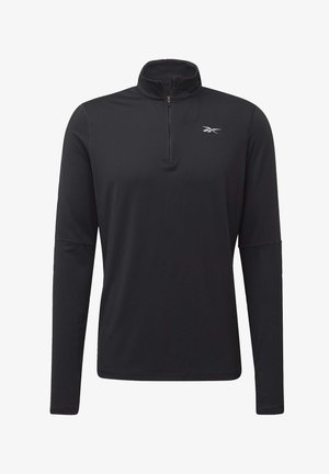 RUNNING ESSENTIALS QUARTER-ZIP TOP - Fleecepullover - black