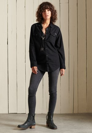 CLASSIC WESTERN - Button-down blouse - black