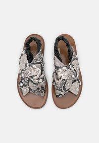Pinko - GLICINE  - Sandals - offwhite/nero - 4