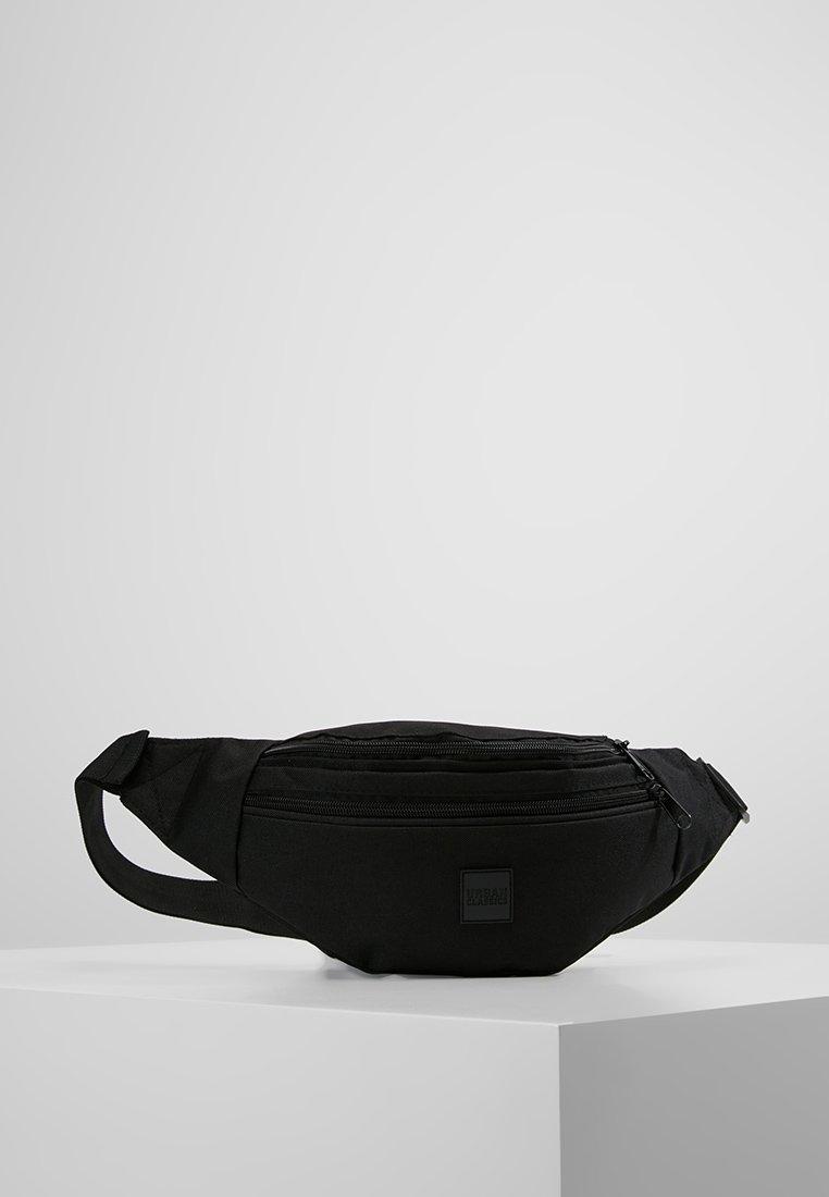 Urban Classics - DOUBLE-ZIP SHOULDER BAG - Ledvinka - black