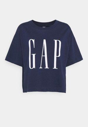 BOXY TEE - Print T-shirt - elysian blue