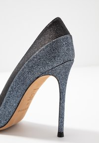 Pura Lopez - Escarpins à talons hauts - glitter antracite/glitter black - 2