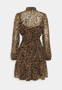 Forever New - ALISON SHIRRED NECK SKATER DRESS - Day dress - brown - 6