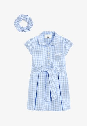 GINGHAM BOW WITH SCRUNCHIE - Day dress - blue