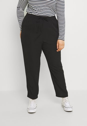 CARLUXINA LOOSE PANT SOLID - Trousers - black