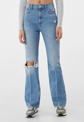 Jeansy Straight Leg - blue denim
