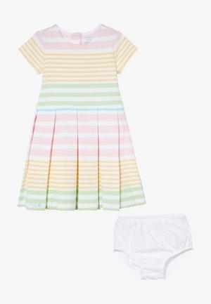 STRIPE DRESSES SET - Jersey dress - white/multicolor