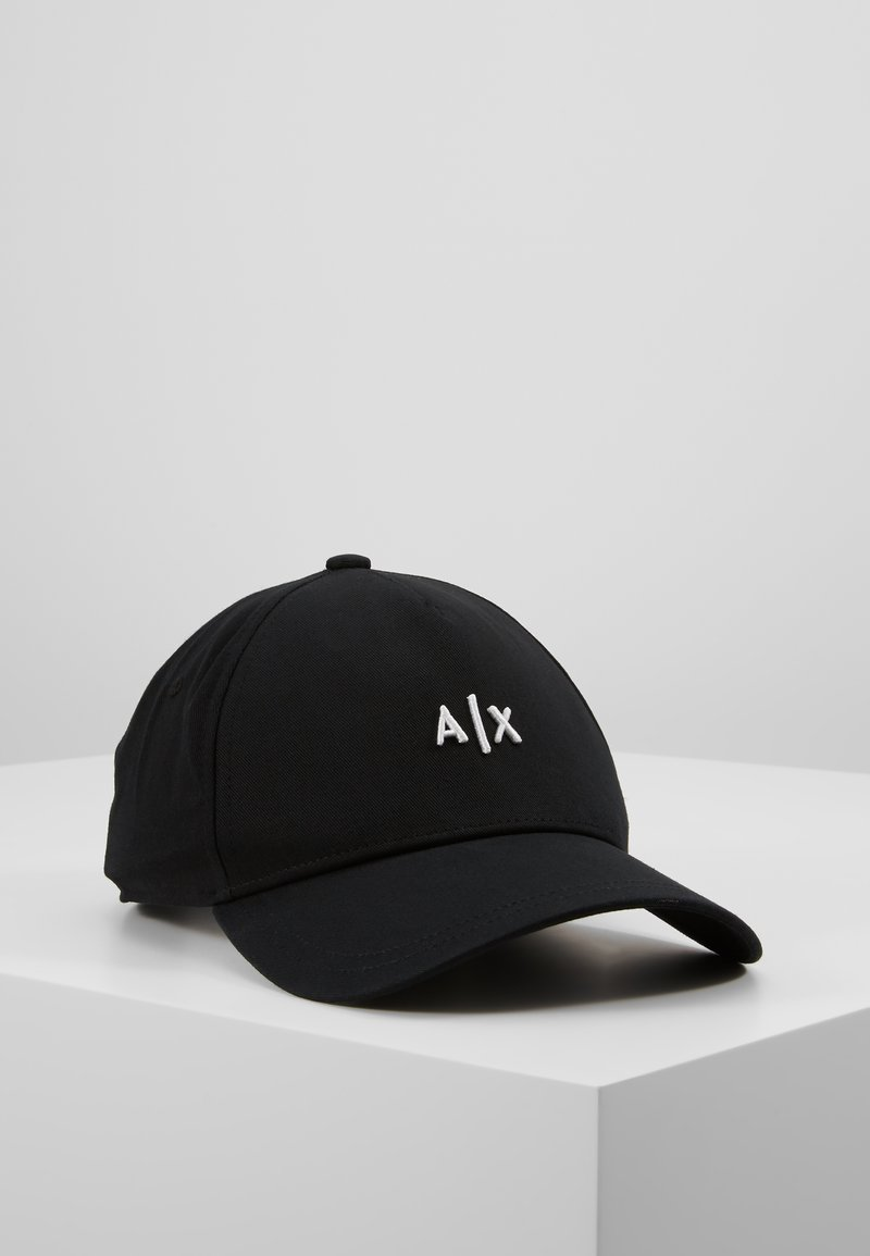 Armani Exchange - BASEBALL HAT - Cap - nero/bianco