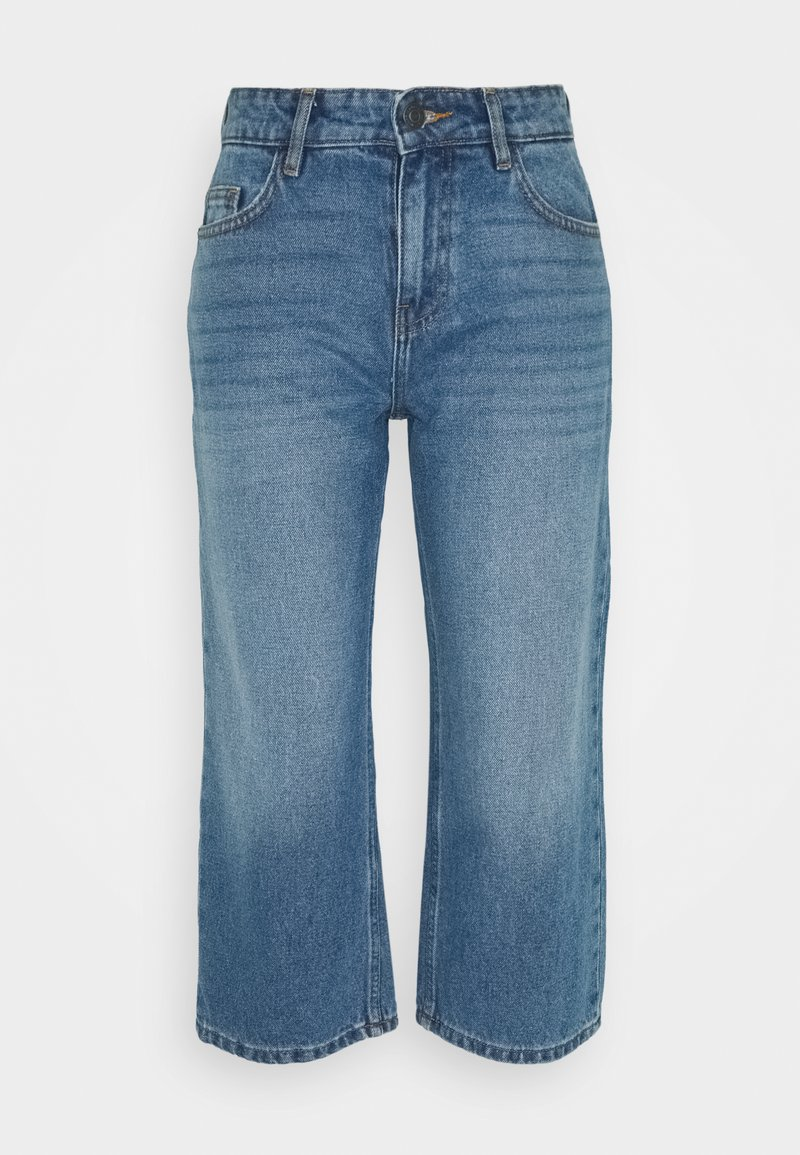 Noisy May Petite - NMAMANDA WIDE ANKLE  - Jeans baggy - medium blue
