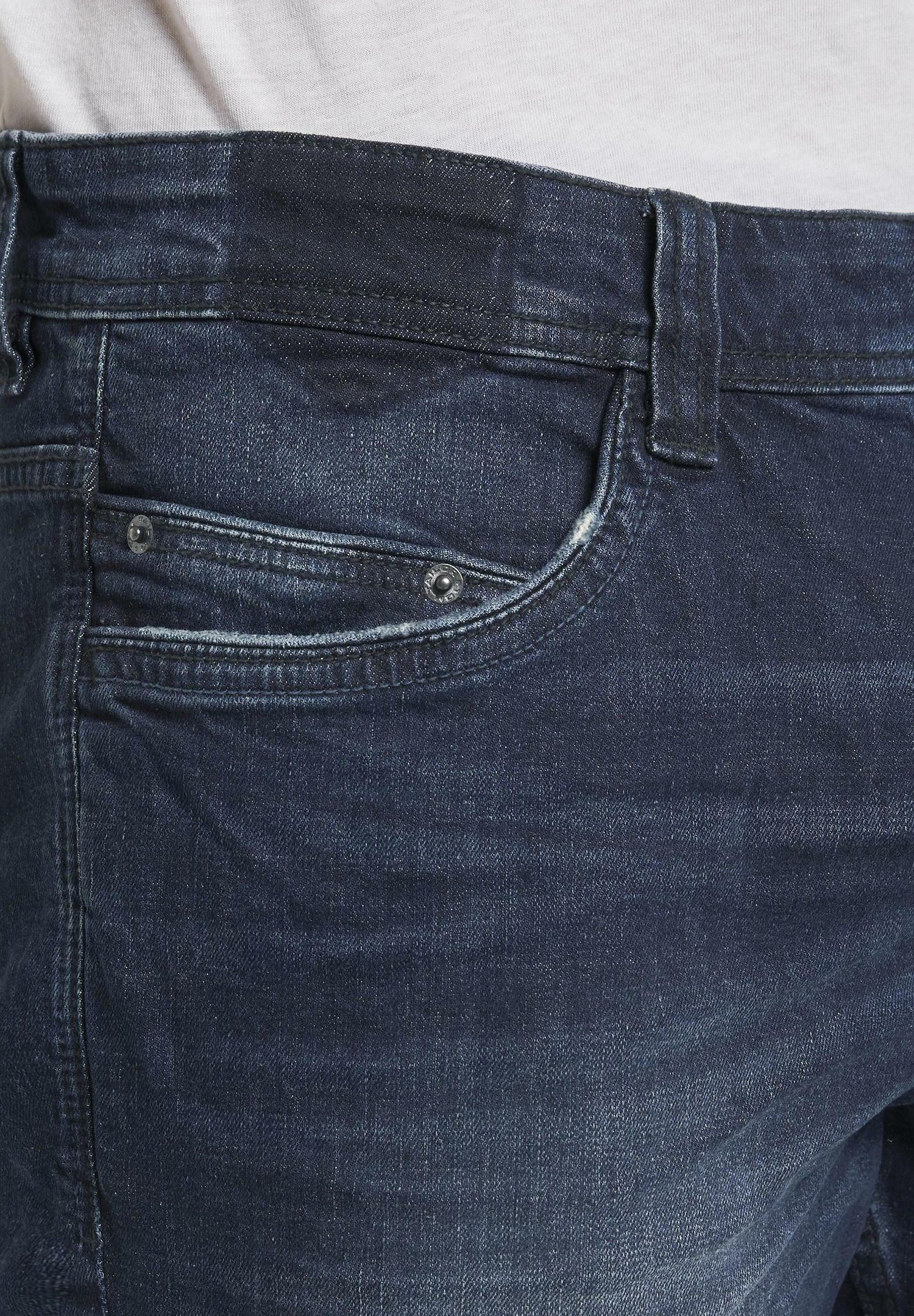 Tom Tailor Shosen Josh - Jeans Shorts Light Stone Wash Denim