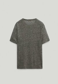 Massimo Dutti - T-Shirt basic - light grey - 1