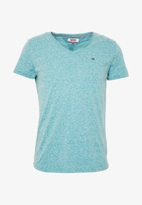 Tommy Jeans - VNECK TEE - Basic T-shirt - exotic teal - 3