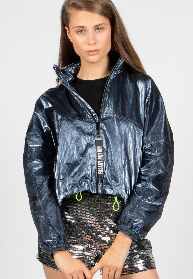LET ME SHINE-FN - Summer jacket - steel blue