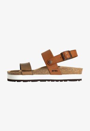 GLADSTONE - Platform sandals - tan