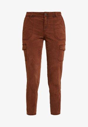 TROUSERS - Trousers - cognac