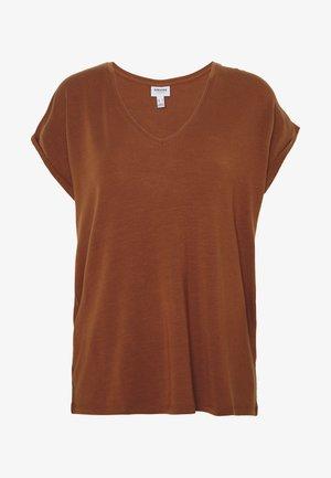 VMAVA VNECK TEE  - Basic T-shirt - tortoise shell