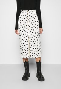 Who What Wear - BUTTON FRONT PENCIL SKIRT - Pencil skirt - cream - 0