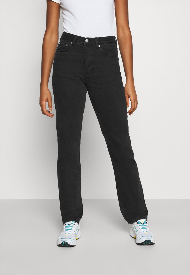 Weekday - WIRE ALMOST  - Straight leg jeans - almost black
