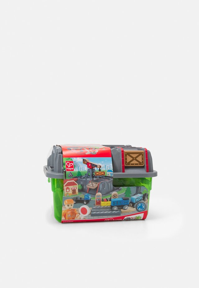 RAILWAY BUCKET BUILDER SET - Tågbana - multicoloured