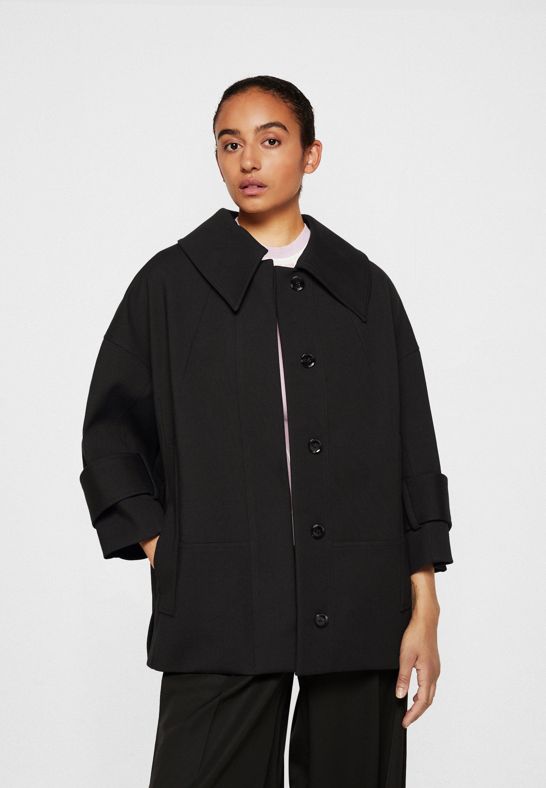 Women BOX CUT BRACELET SLEEVE RETRO COAT - Short coat