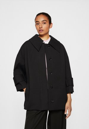 BOX CUT BRACELET SLEEVE RETRO COAT - Short coat - black