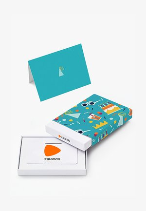 HAPPY BIRTHDAY - Karta upominkowa w pudełku - light blue