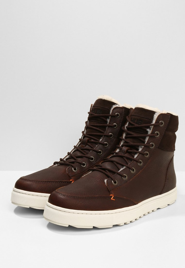 HUB DUBLIN MERLINS - Sneaker high - dark brown/off white/braun - Herrenschuhe FUmi2