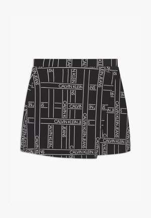 LOGO TAPE - Wrap skirt - black