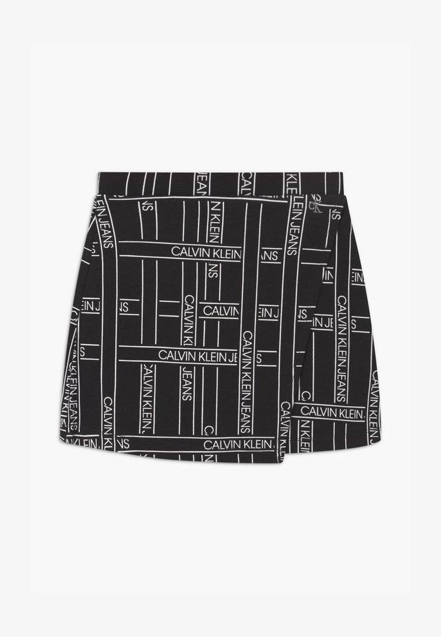 LOGO TAPE - Wrap skirt - black
