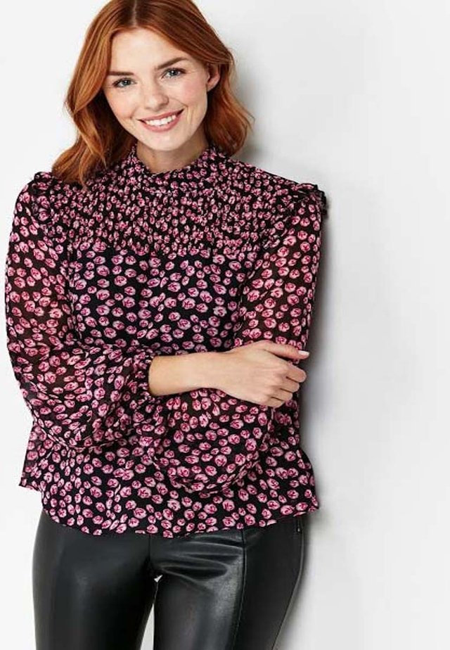 TALL Multi-Colour Shirred Hem Top - Blouse - multi-colored
