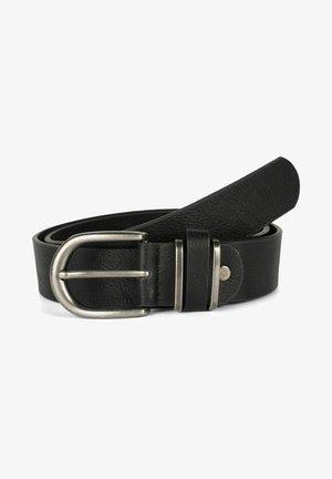 UNISEX  MIT METALL AN DER GÜRTELSCH - Belt - schwarz