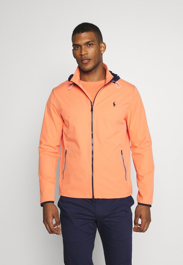 HOOD ANORAK JACKET - Waterproof jacket - true orange