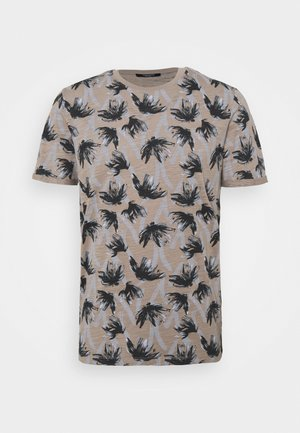 JPRBLASUNNY TEE CREW NECK - T-shirt print - elephant skin