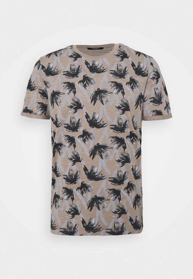 JPRBLASUNNY TEE CREW NECK - Print T-shirt - elephant skin