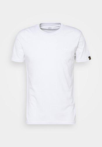 REFLECTIVE - T-shirt z nadrukiem - white