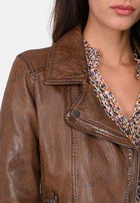 Oakwood - FOLLOW - Leather jacket - brown - 3