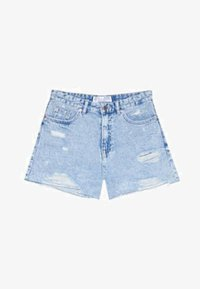 Stradivarius - Shorts di jeans - blue denim - 4