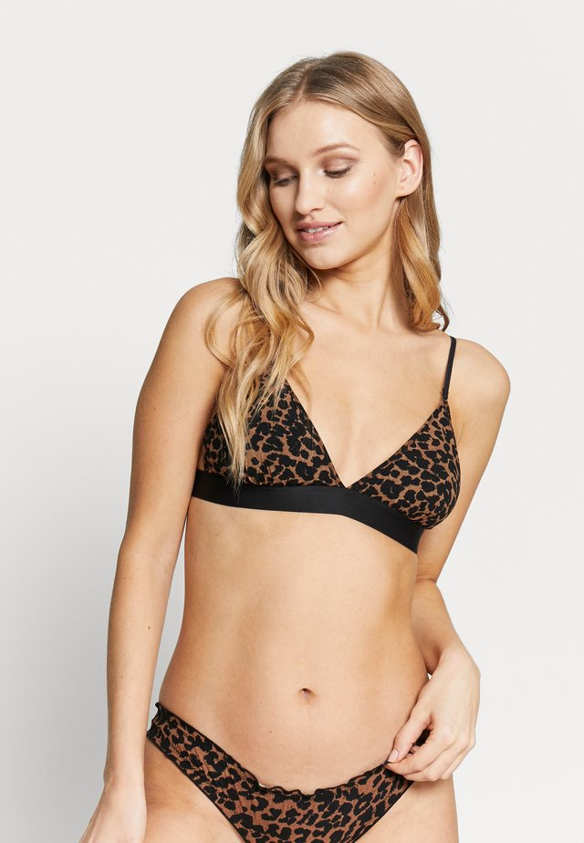 DARLING - Triangel-bh - brown/black